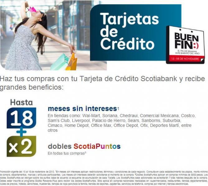 Ofertas del Buen Fin 2013 en Scotiabank
