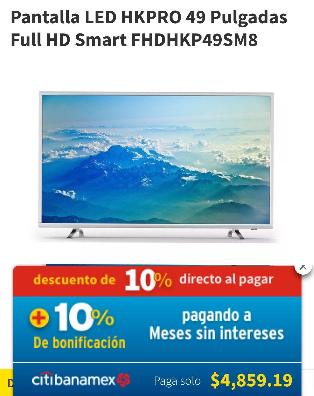 "Smart TV FullHD 49"" HKpro"