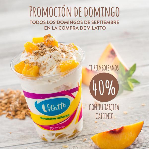 Caffenio: Reembolso del 50% en tarjeta al comprar Vilatto. Solo Domingos.