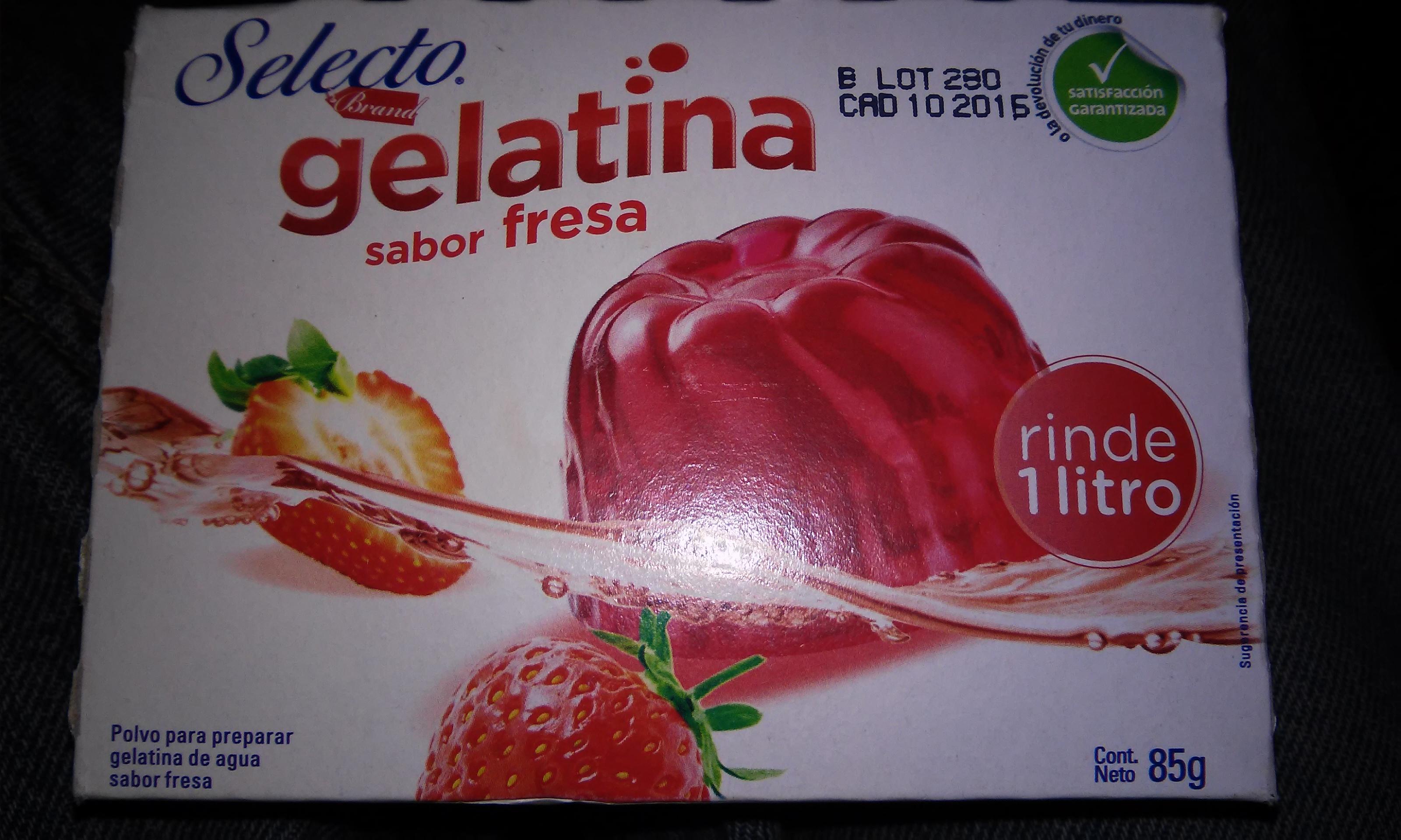 CHEDRAUI: a $3 la gelatina