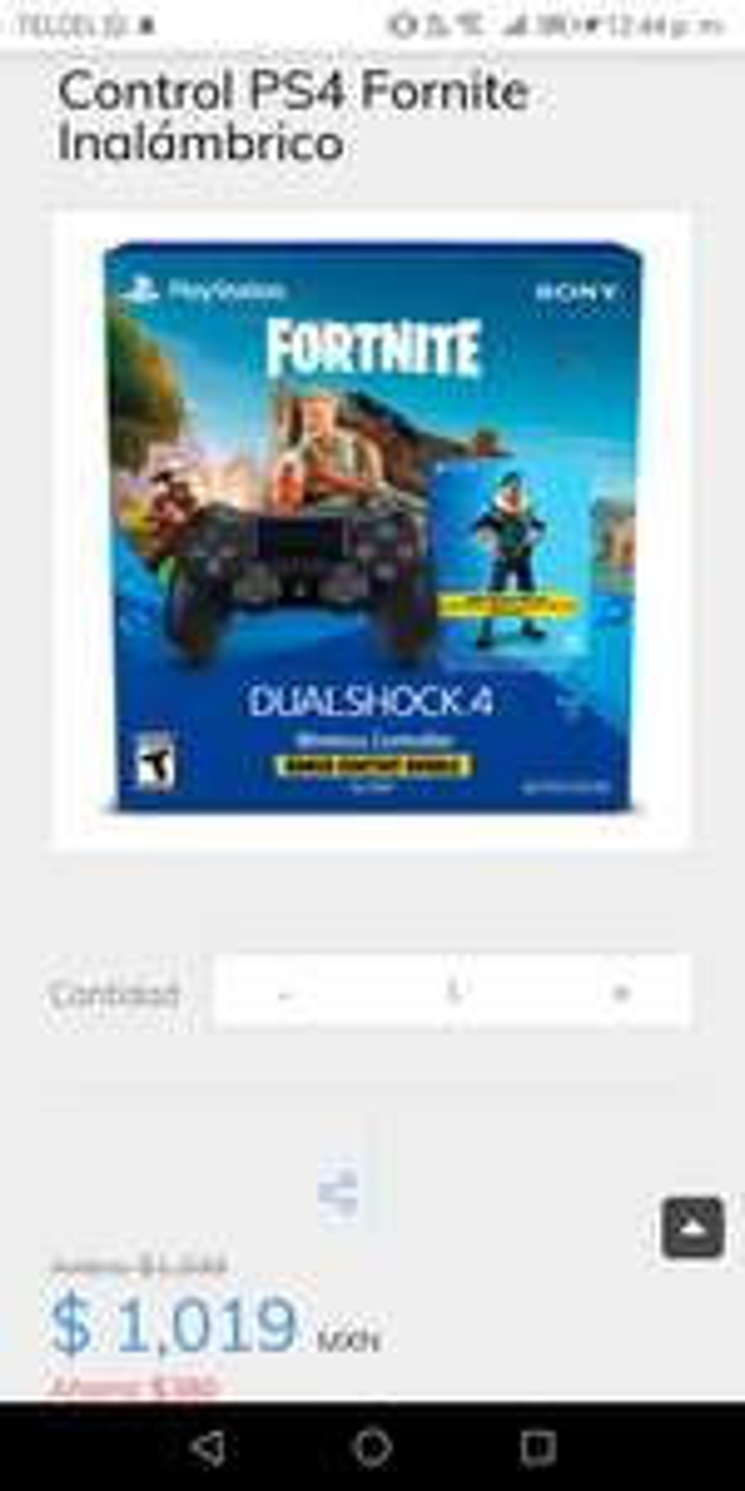 sanborns Control PS4 Fornite Inalámbrico