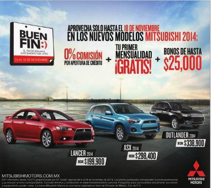 Ofertas del Buen Fin 2013 en Mitsubishi