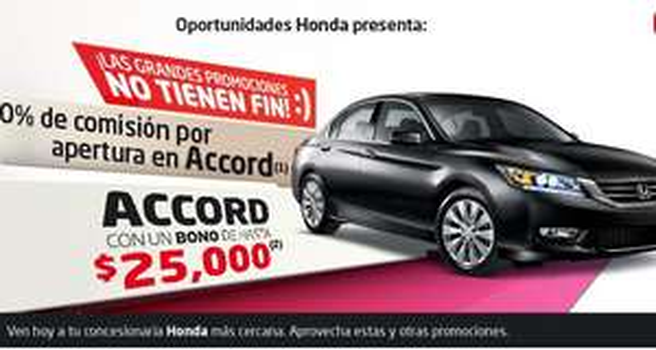 Ofertas del Buen Fin 2013 en Honda