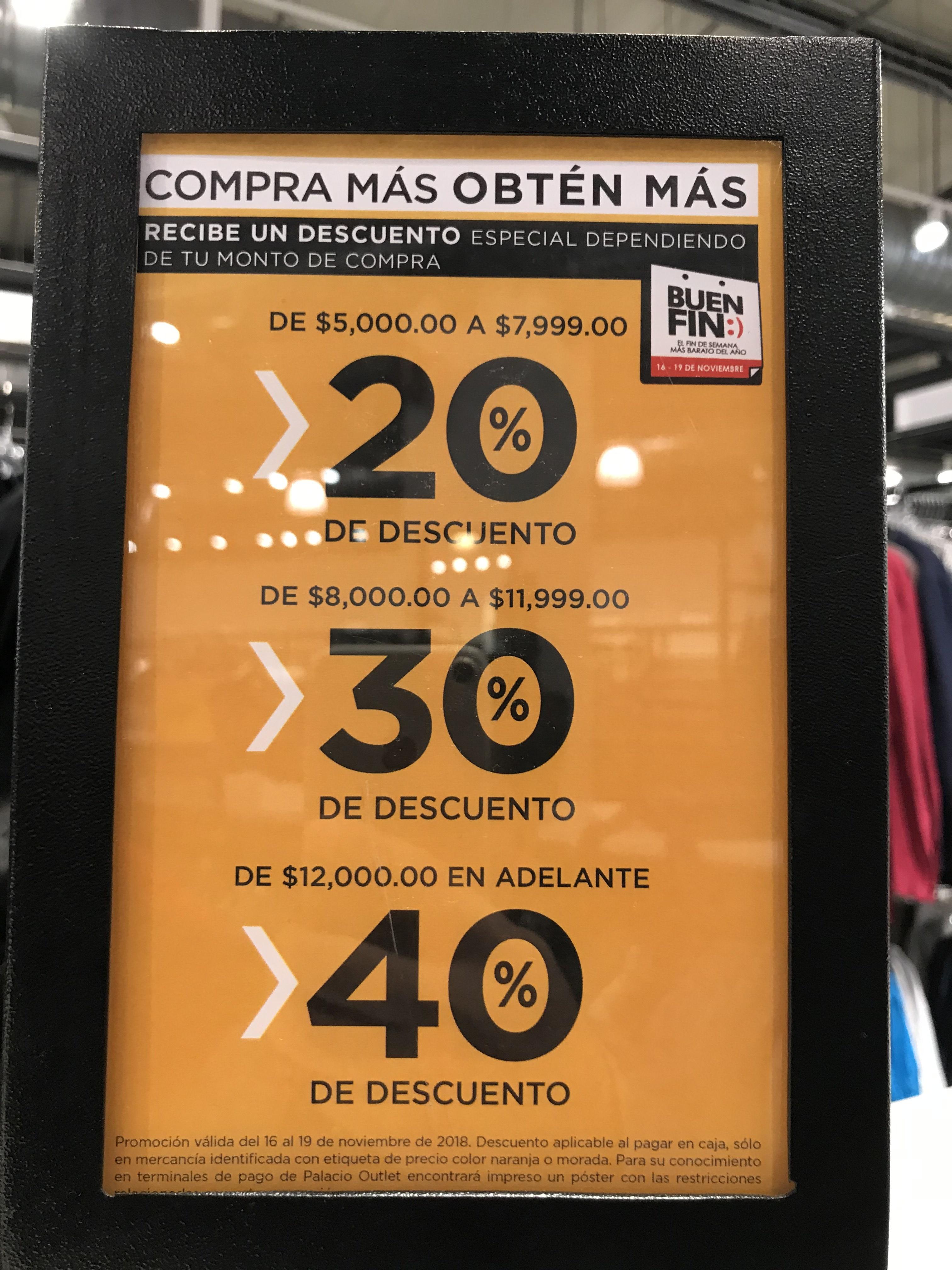 Palacio de Hierro Outlet Punta Norte 40%+20%