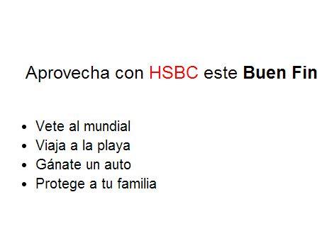 Ofertas del Buen Fin 2013 en HSBC