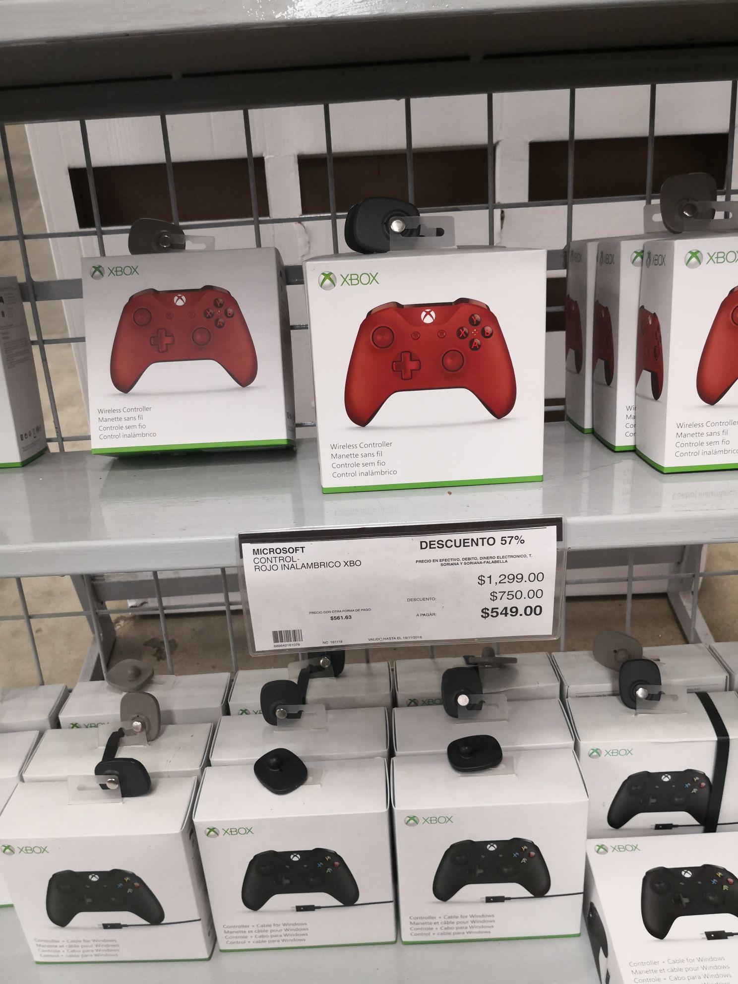 City Club: Control Xbox One Red a $549 online y en tienda
