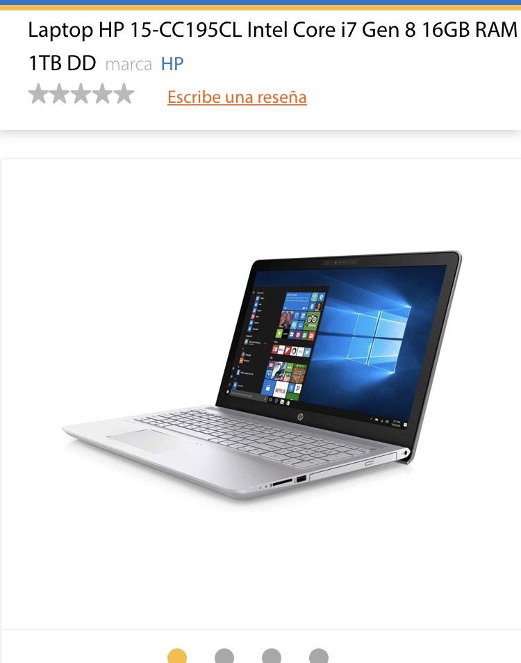 Buen Fin en Walmart: Laptop HP CORE i7 8va generación 16GB RAM 1TB Táctil con Bancomer