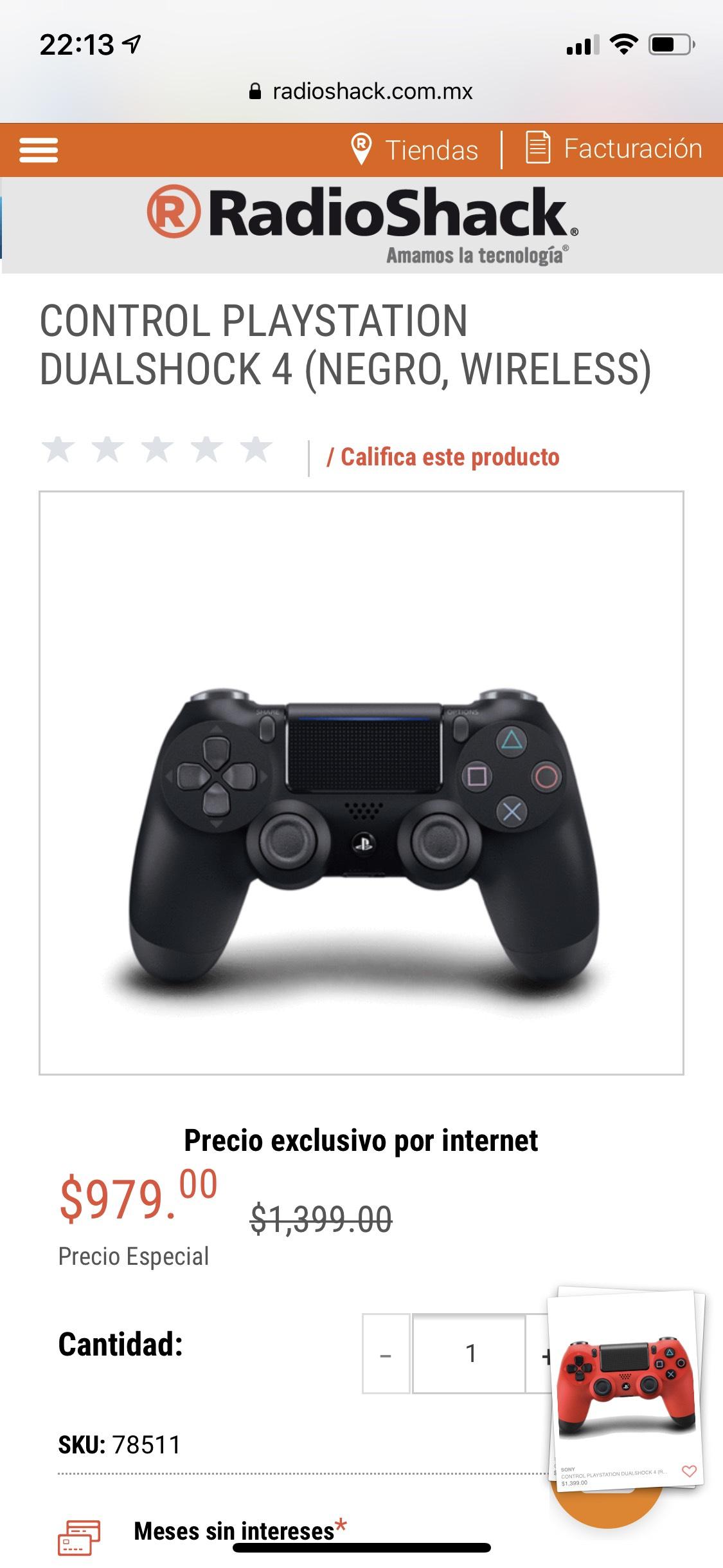 RadioShack: Dualshock PS4
