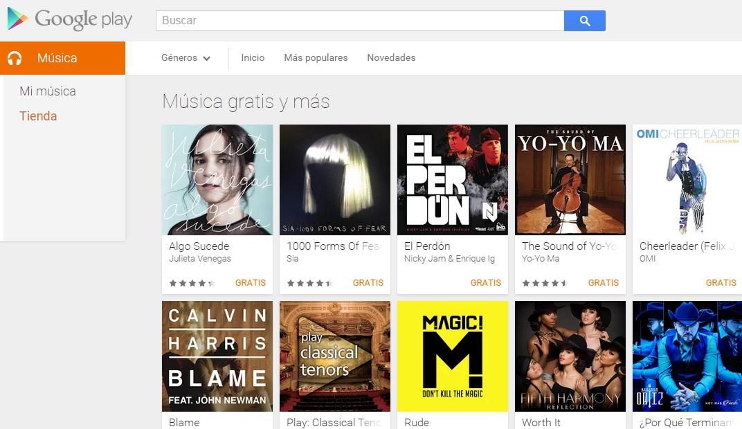 Google Play: Recopilación de álbumes y canciones gratis y/o con descuento.