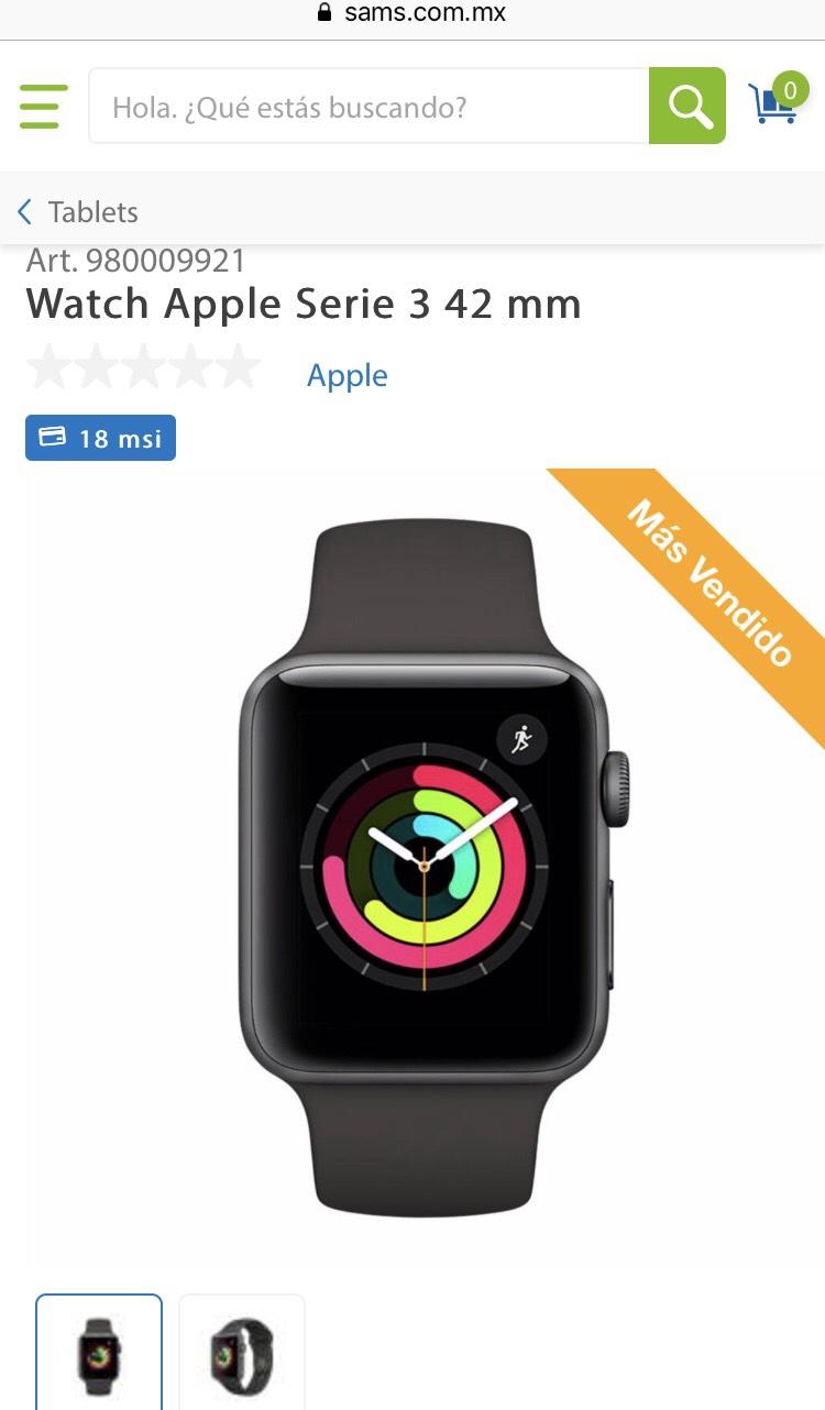 Buen Fin 2018 en Sam's Club: Apple Watch Serie 3 de 38 y 42mm (Pagando con Citibanamex)