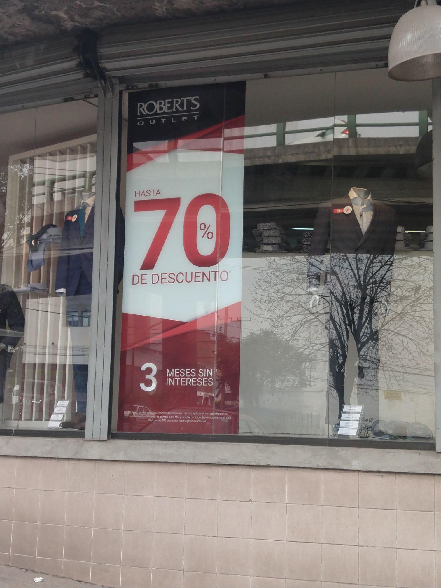 Outlet Roberts toda la tienda hasta 70% de descuentos