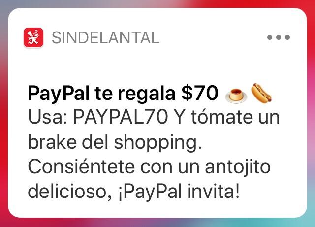SinDelantal: $70 de descuento