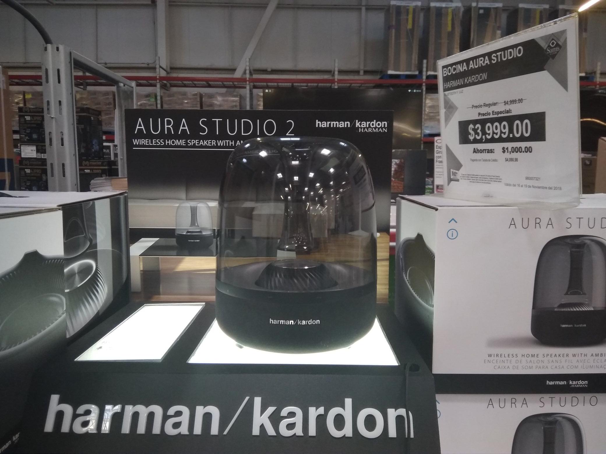 Buen Fin 2018 en Sam's Club: Harman Kardon Aura Studio 2 BANCOMER (4 meses bonifican) y TARJETAS PARTICIPANTES (3 meses bonifican) 18 MSI