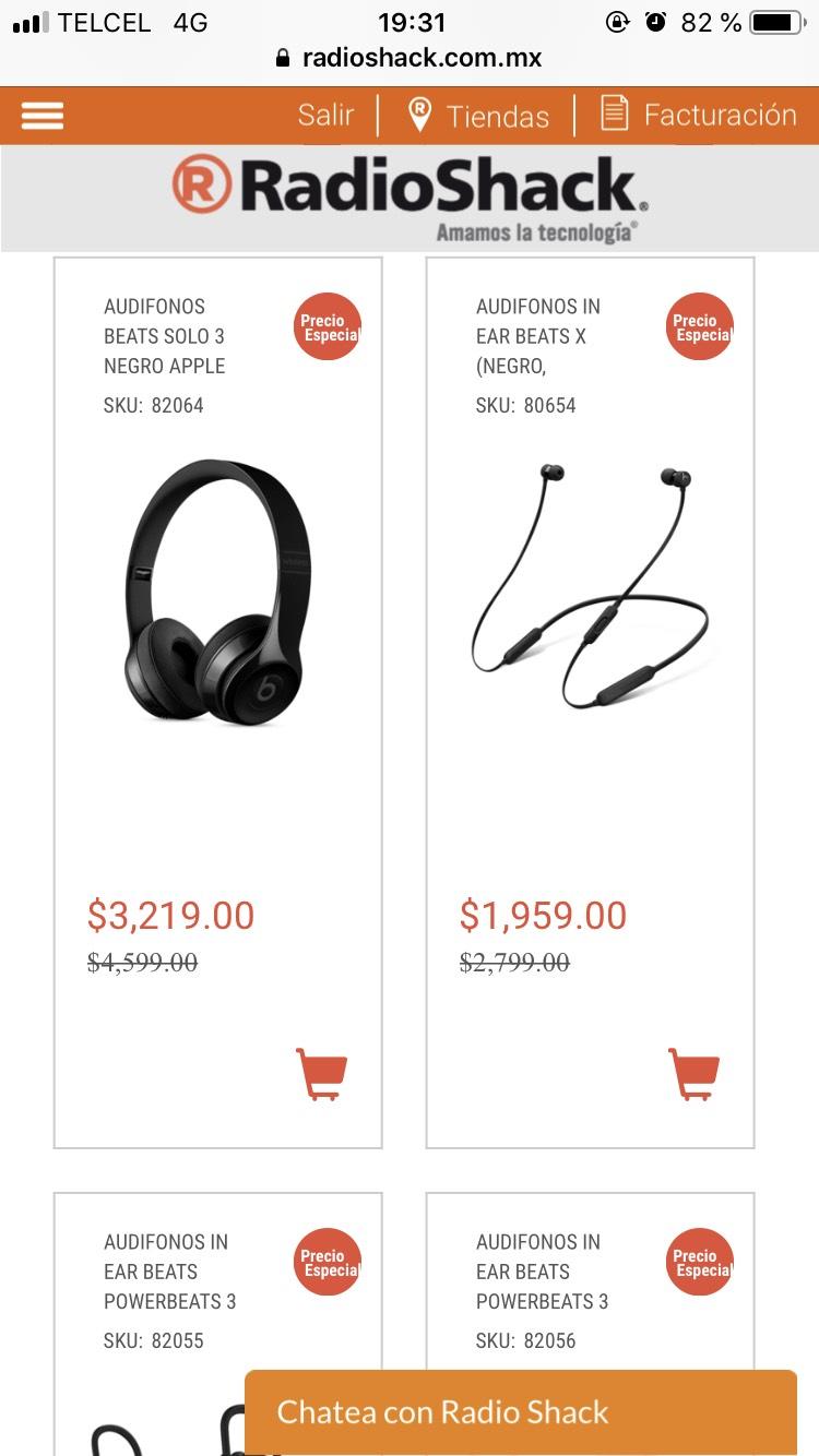 RadioShack: Beats varios modelos en oferta