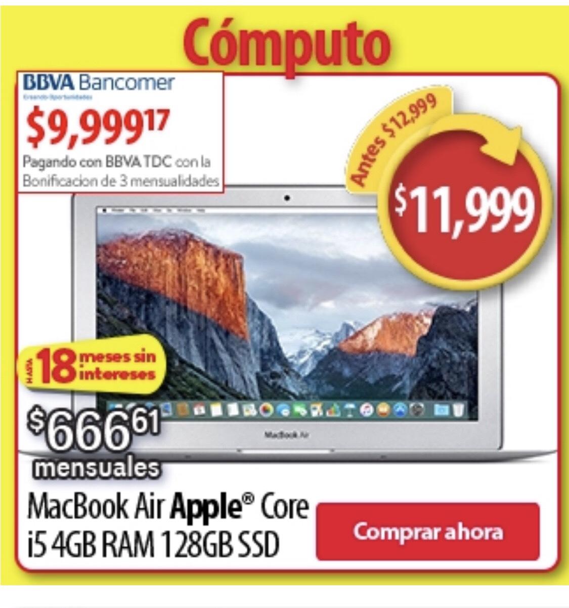 Buen Fin Walmart: MacBook Air Apple Core i5 4GB RAM 128GB SSD con Bancomer