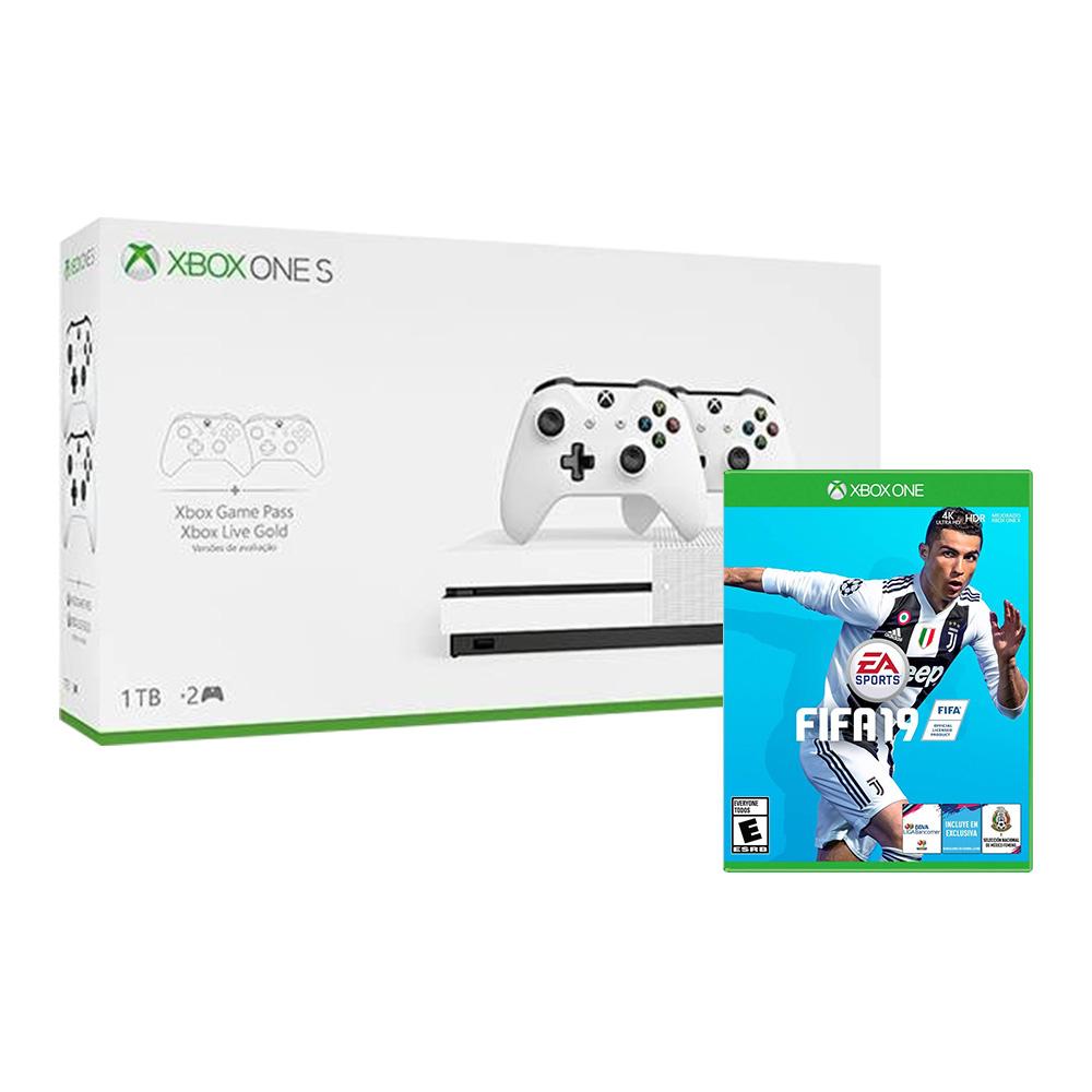 Buen Fin 2018 en Walmart: (Varios Bundles) XBOX ONE S + control extra+ FIFA 19 (pagando con BBVA BANCOMER 18 MSI)