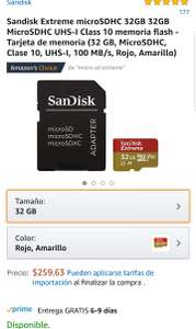 Amazon: SanDisk extreme 32gb UHS-I clase 10