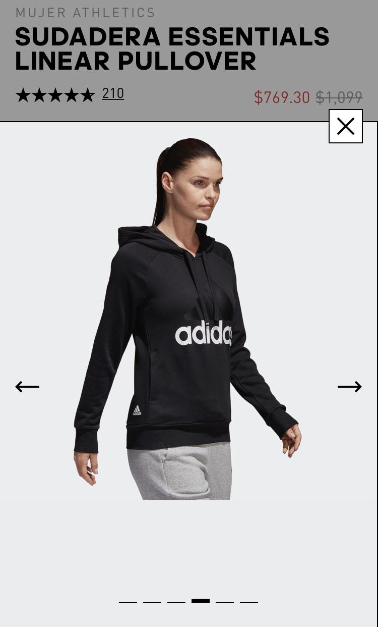 Buen Fin Adidas: Sudadera Essentials Linear Pullover