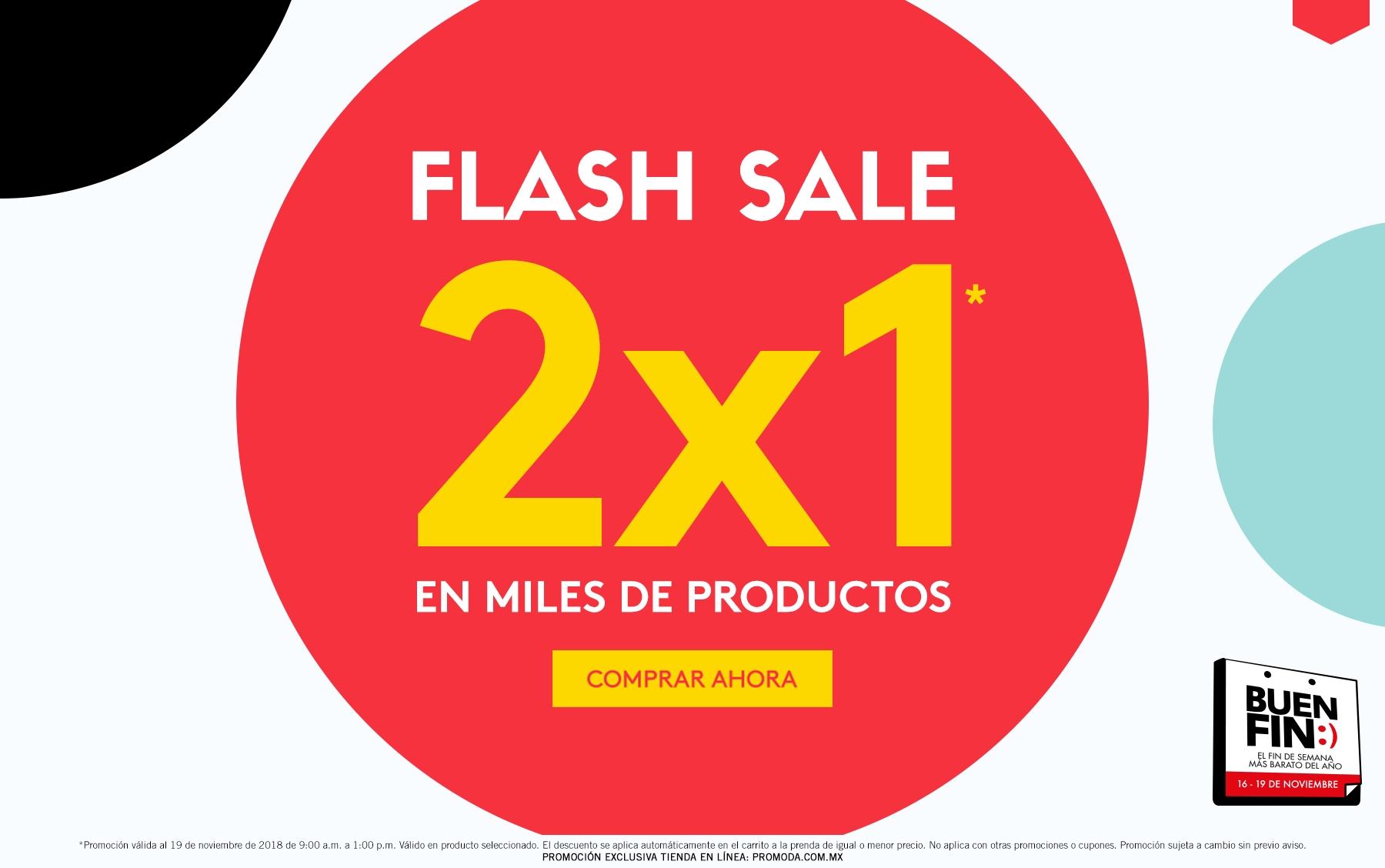 Promoda Outlet: Flash Sale: 2 x 1 en miles de productos a lo ya rebajado