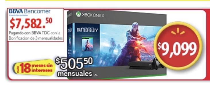 Buen Fin 2018 en  Walmart: Xbox one X battlefield (Pagando con Bancomer)