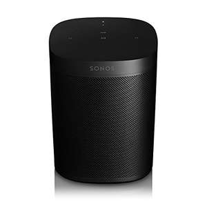 Amazon:  Sonos One – Bocina inteligente controlada por voz con Amazon Alexa, Color Negro