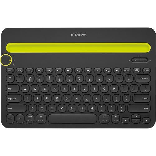 CyberPuerta: Teclado Logitech K480 Multiplataforma, Inalámbrico, Bluetooth, Negro (Español)