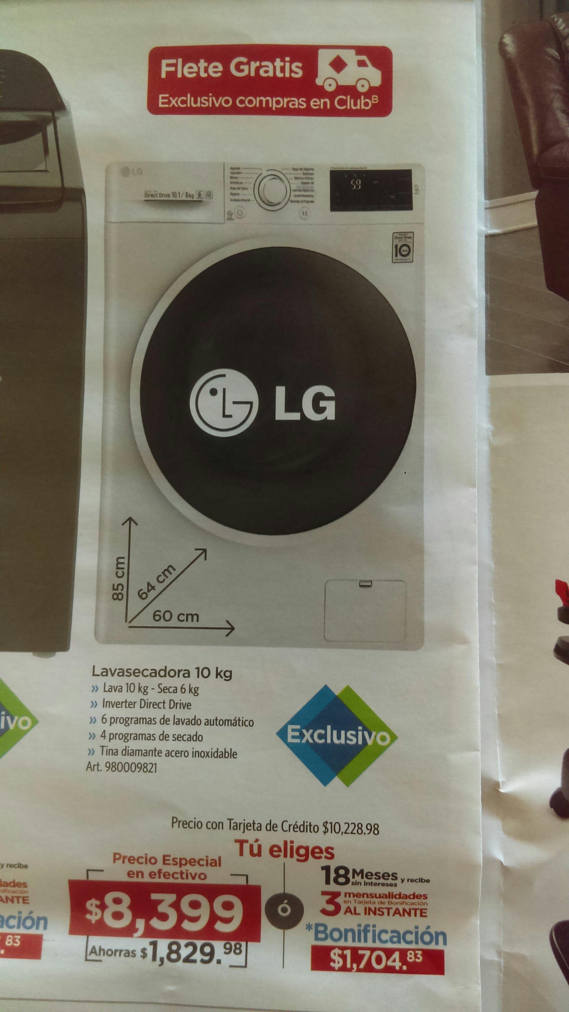 SAM'S CLUB Online Buen Fin: Lavasecadora LG C4 Carga Frontal 10 kg