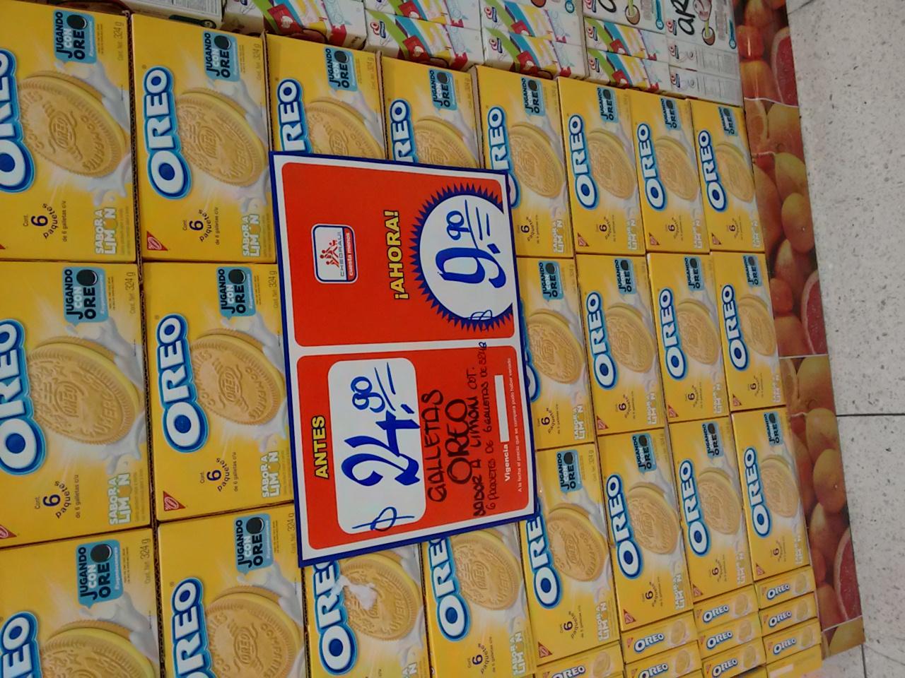 Chedraui: Galleta Oreo sabor limon a $9.90