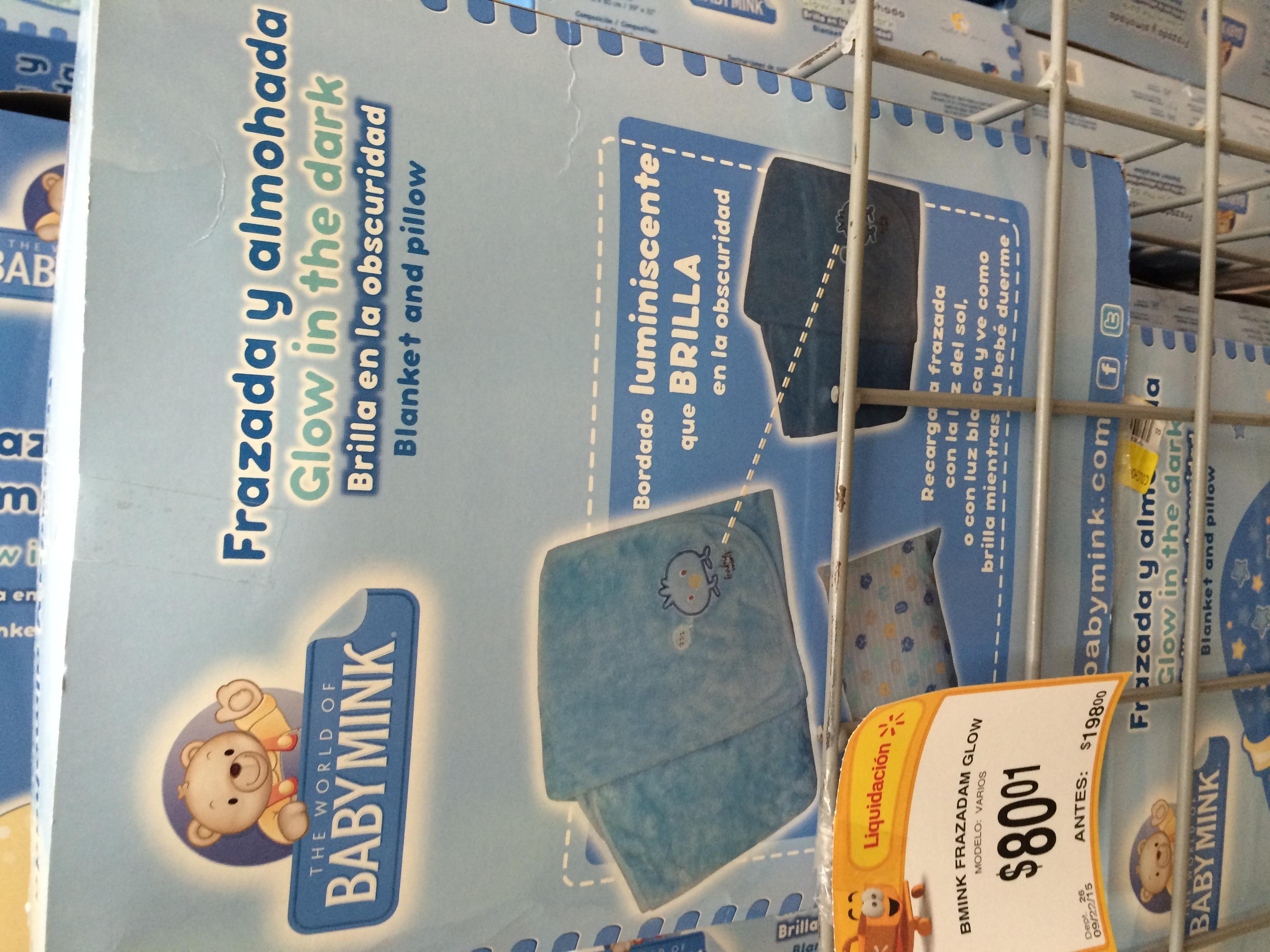 Walmart: frazada y almohada para bebé $80.01