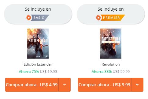 Origin: Battlefield 1 (Nuevamente a 4.99usd- aprox 102MXN)