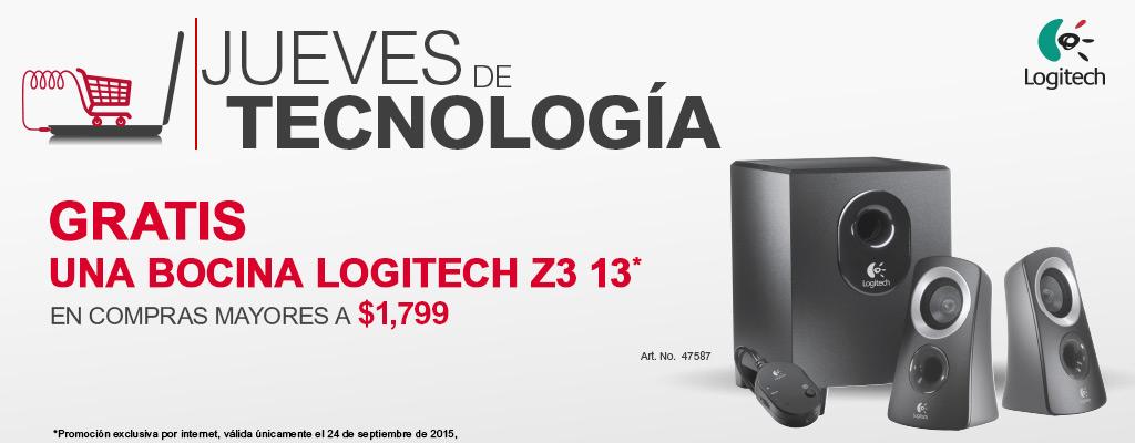 Jueves de Tecnologia en Office Depot: Bocina Logitech z3 GRATIS en compras mayores a $1,799