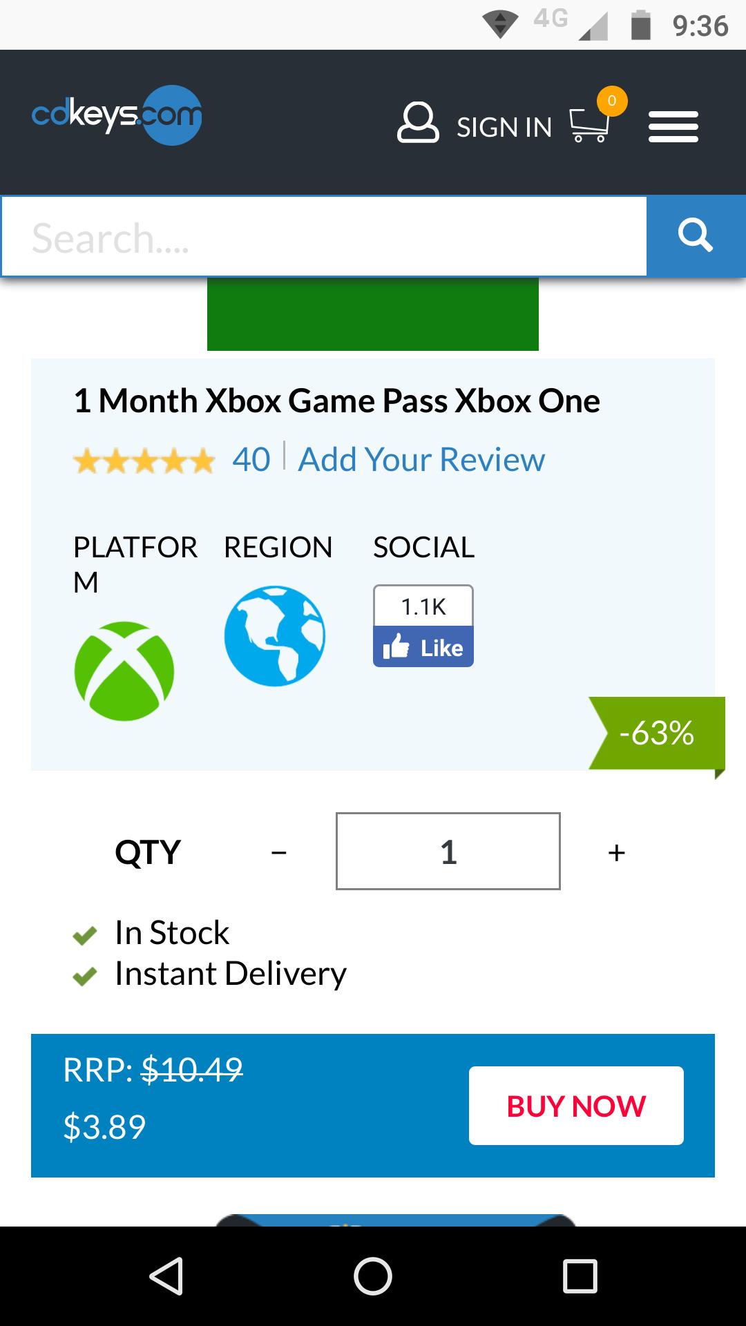 CD Keys: Xbox gamepass en $80 el mes aproximadamente