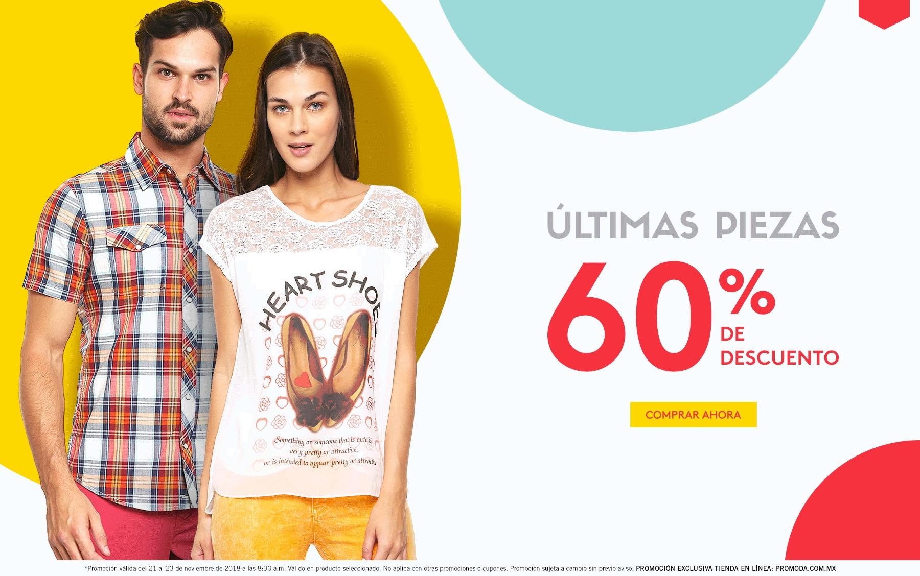 Promoda Outlet: 60% de descuento en últimas piezas en tienda en Línea
