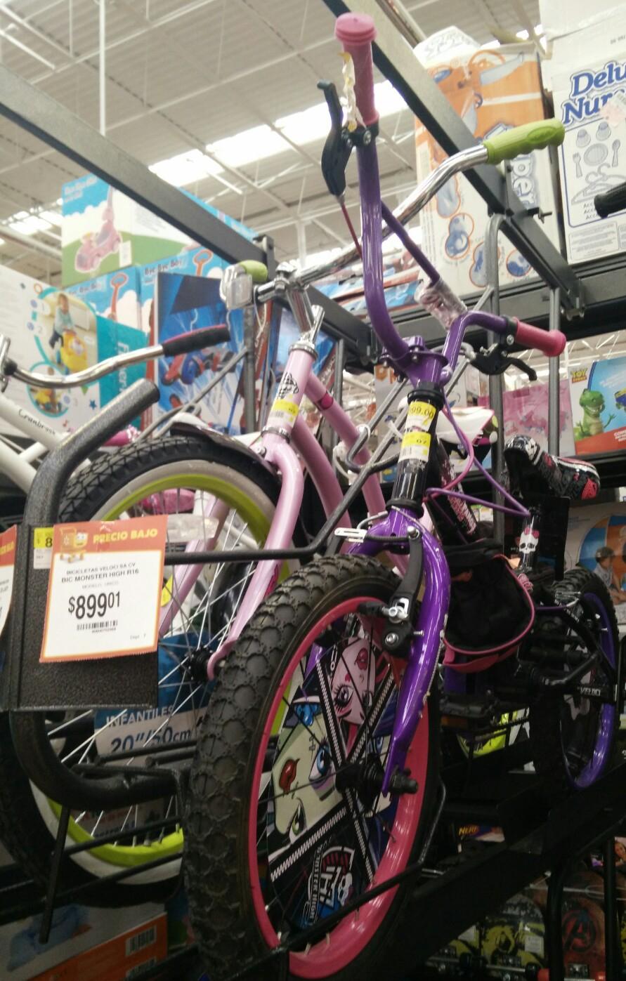 Walmart: bicicleta Monster High a $899.01