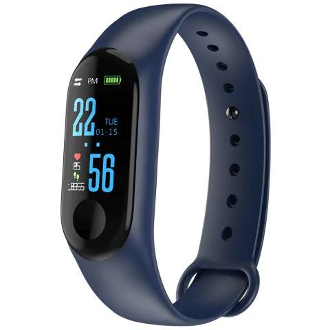 Dressily: Smartband M3 a color, Bluetooth, resistente al agua, pantalla LED, ritmo cardiaco y mas.
