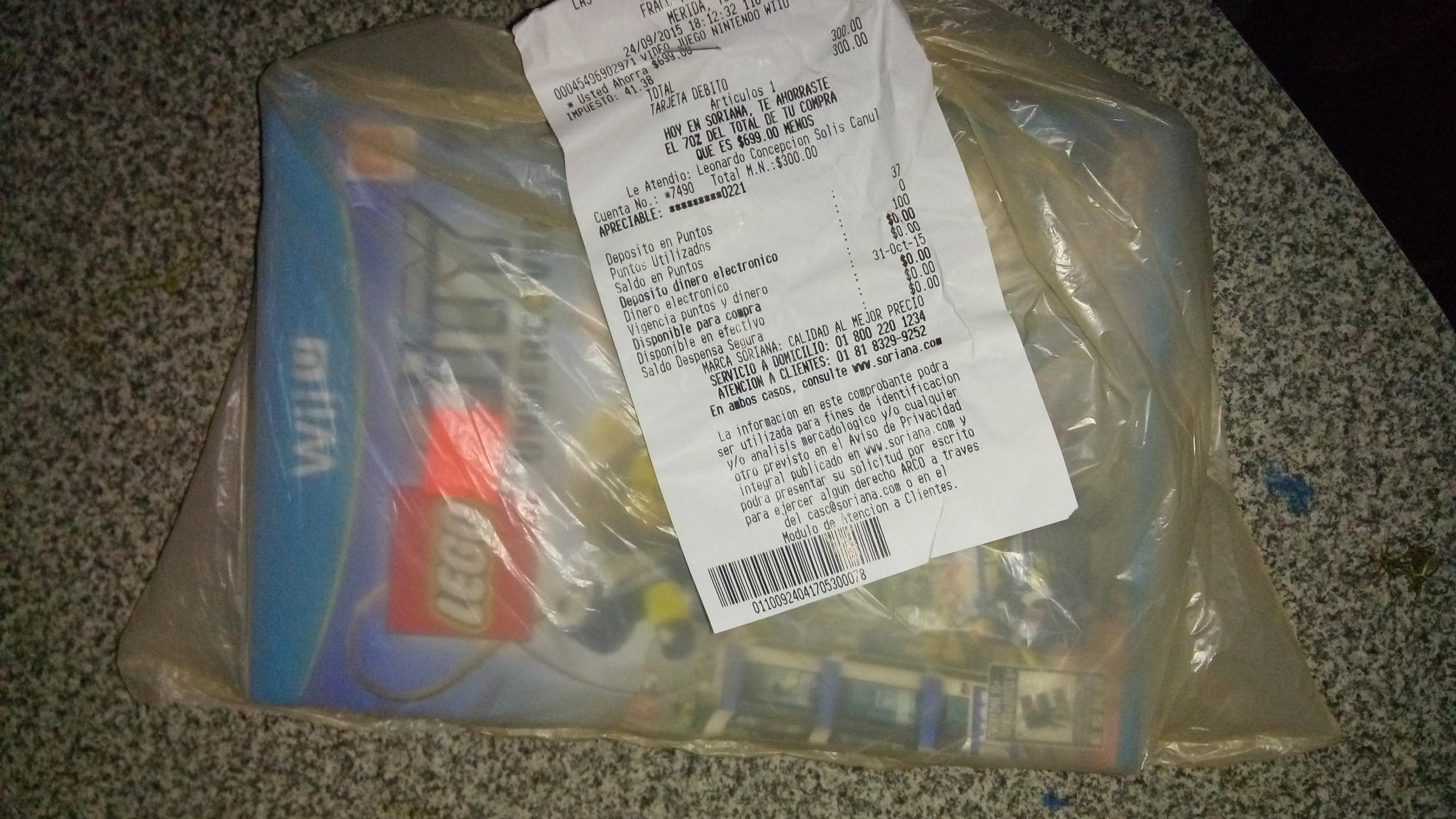 Soriana: Legó City para Wii U a $300