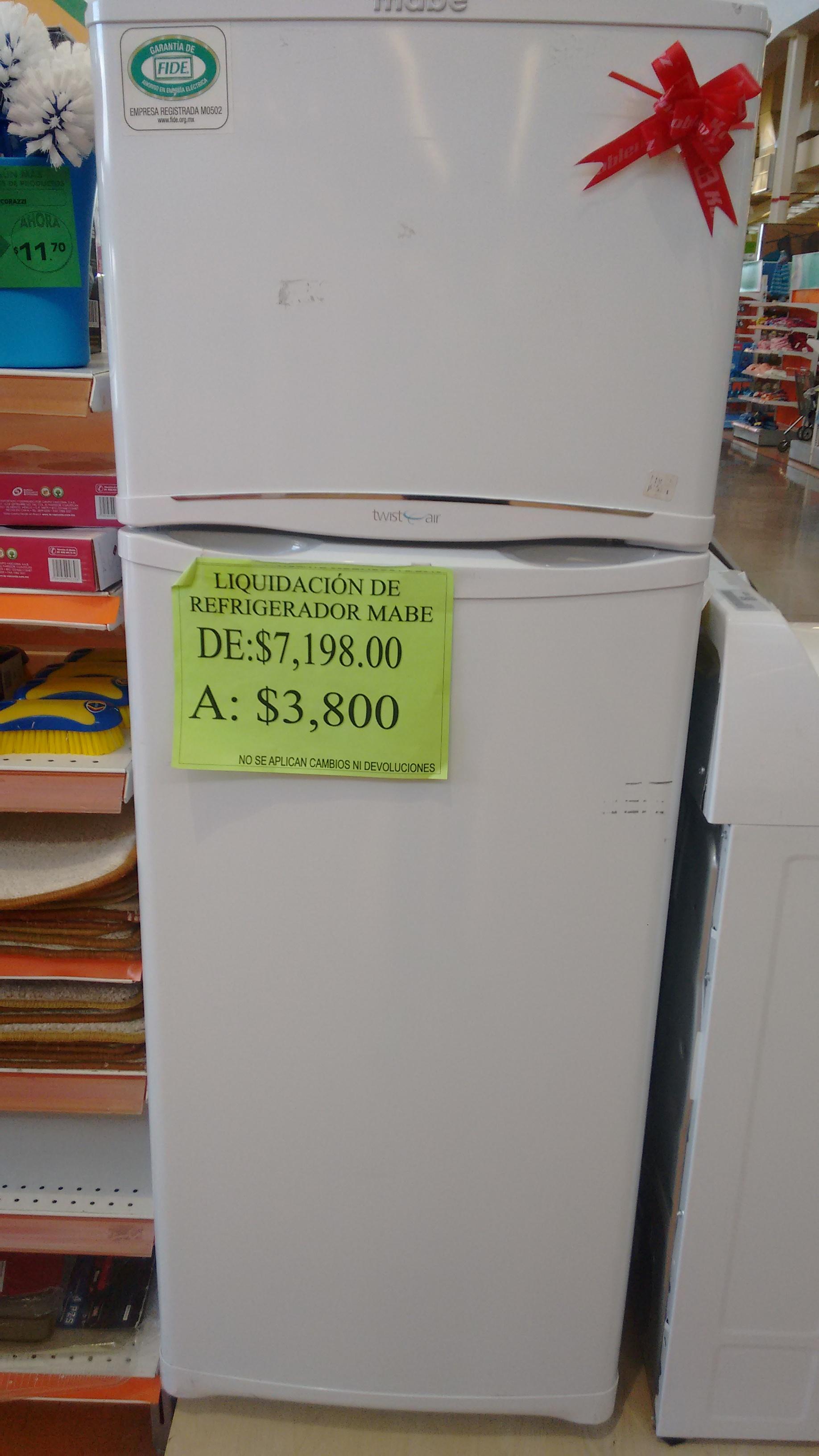 La Comer: Refrigerador Mabe 9 pies a $3,800