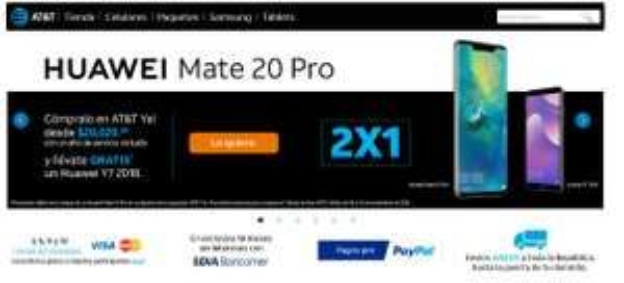 AT&T: Huawei Mate 20 Pro + un Año de Servicios + Huawei Y7 2018