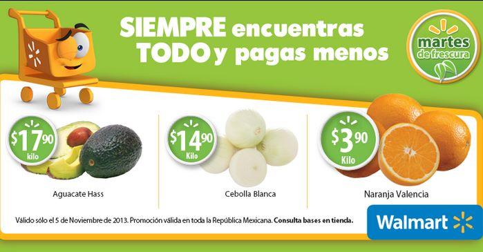 Martes de frescura en Walmart noviembre 5: aguacate $17.90 el kilo y más