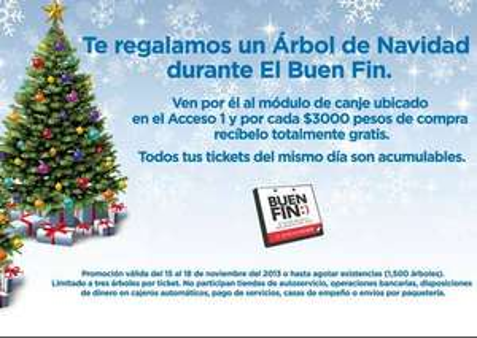 Ofertas del Buen Fin en Mundo E: árbol de Navidad gratis con compra mínima