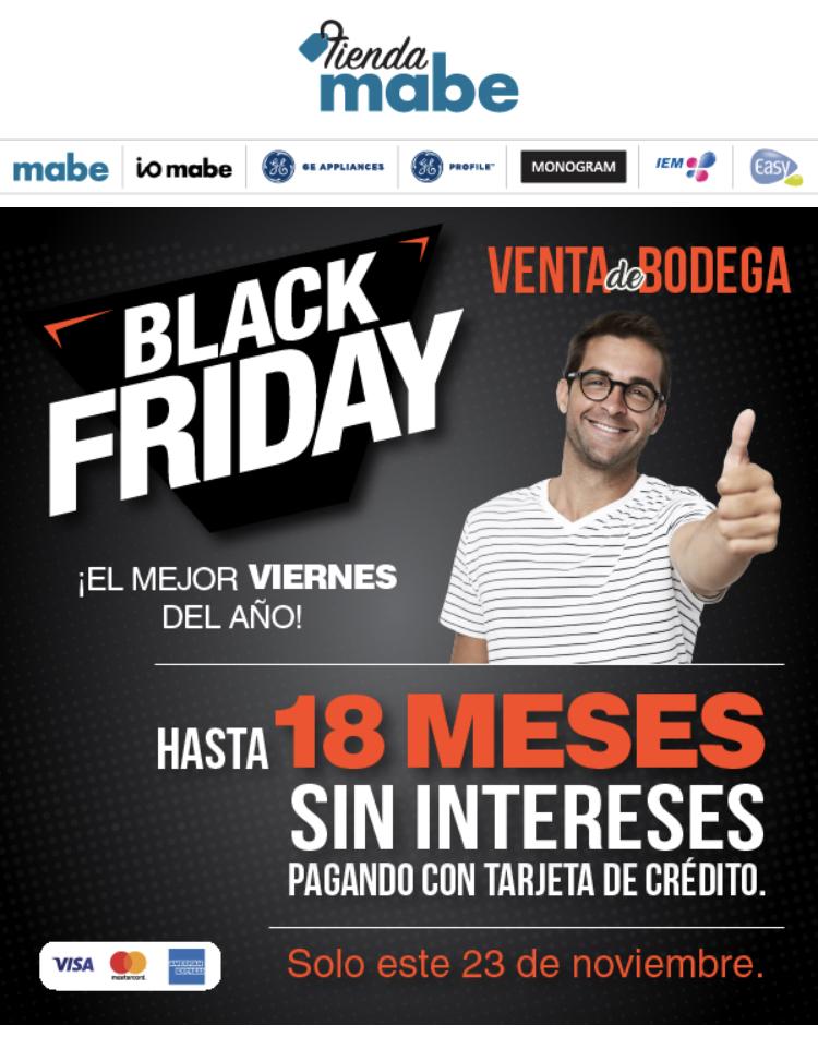Black Friday en tienda mabe: Descuentos de hasta el 50%