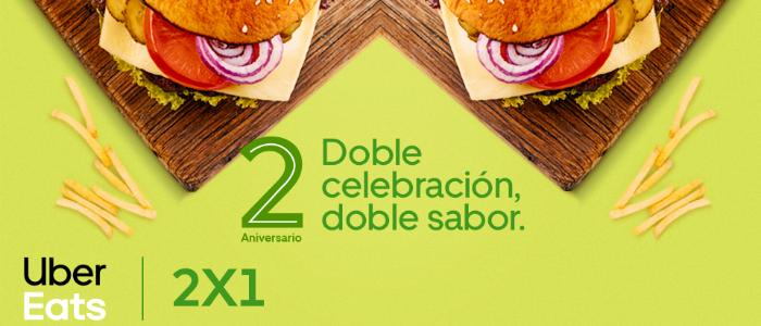 Uber Eats: 2x1 en hamburguesas