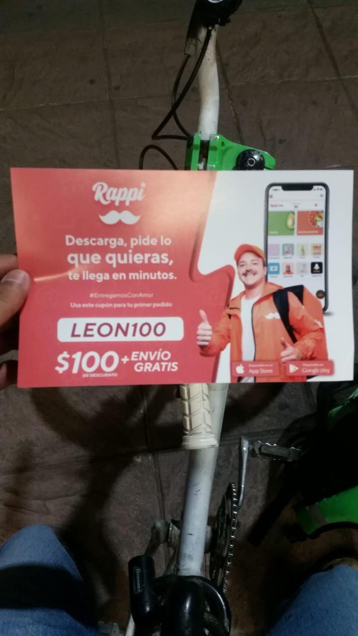 Rappi: $100 + envío gratis (León, Guanajuato) Nuevos usuarios