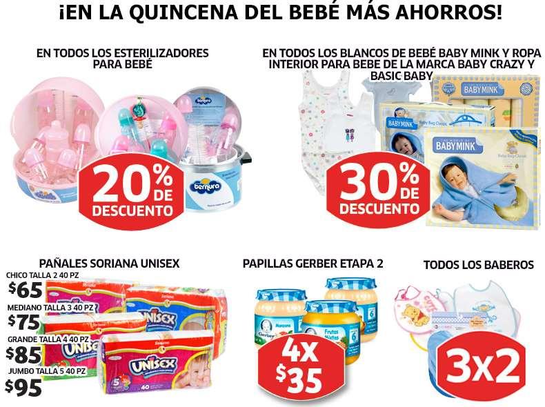 Soriana: 20% de descuento en esterilizadores, 3x2 en baberos, 30% en ropa interior