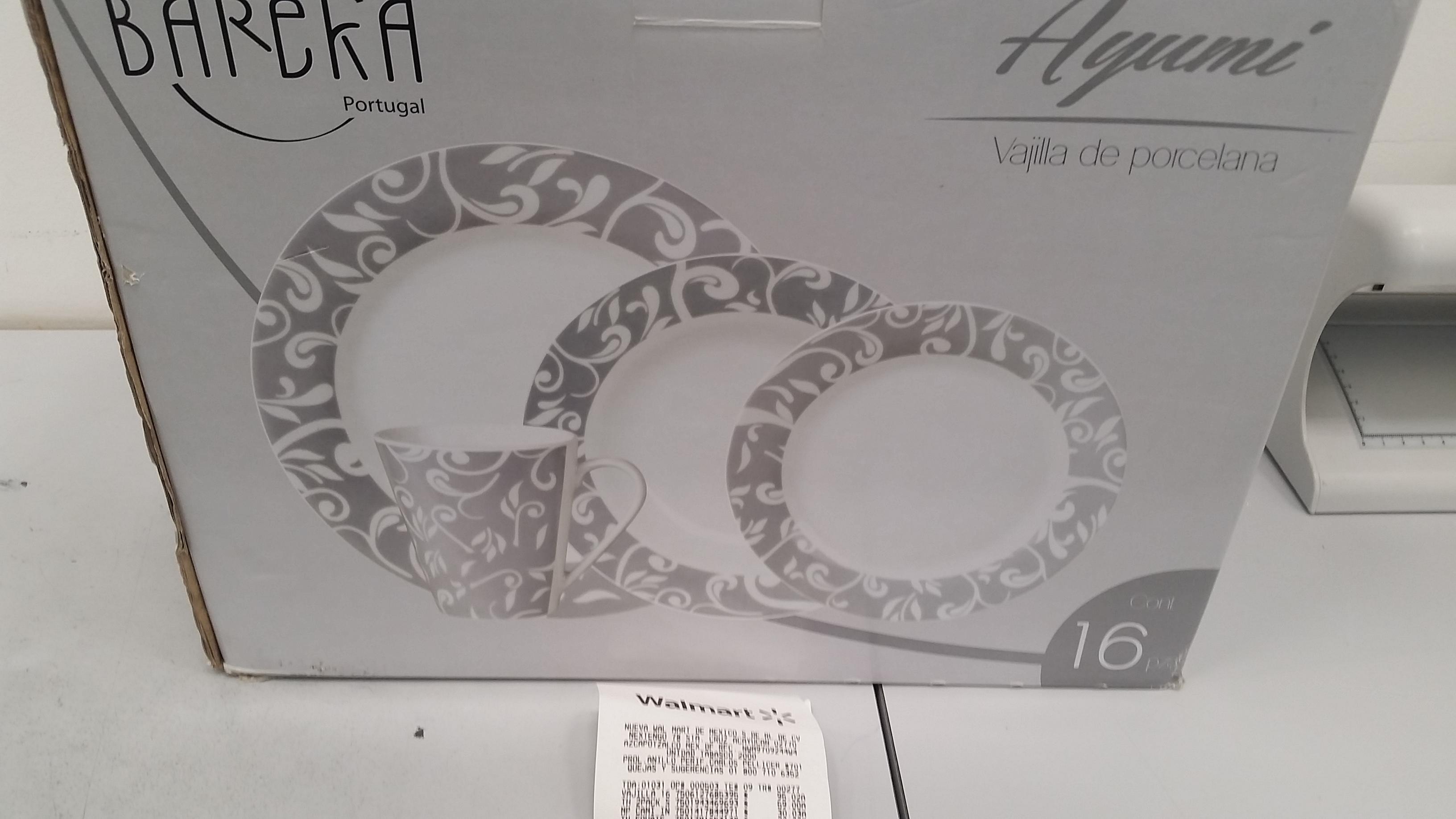 Walmart: vajilla Bareka 16 piezas $95.02