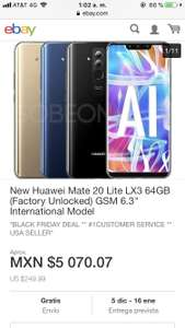 Black Friday en eBay: Huawei mate 20 lite