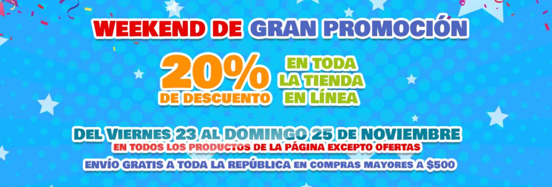 Black Friday 2018 Julio Cepeda: jugueterias 20% de descuento en linea este fin de semana