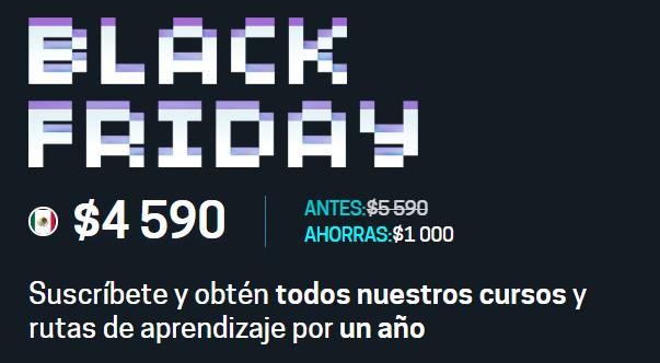 Black Friday 2018 Platzi: suscripción anual