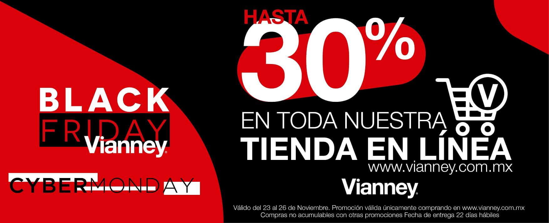 Black Friday 2018 Vianney: 30% de descuento en toda la tienda en linea