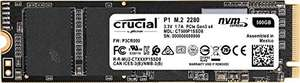 Amazon: SSD NVME Crucial, 500 GB PCI Express 3.0 M.2
